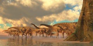 Spinophorosaurus Dinosaur Travel. Spinophorosaurus was a herbivorous dinosaur that lived in the Jurassic Period of Niger, Africa Stock Image