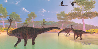 Spinophorosaurus-Dinosaurier-Fluss Lizenzfreies Stockfoto
