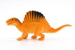 Spinosaurus在白色背景的玩具模型 库存图片