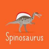 Spinosaurus dinosaur colorful card Royalty Free Stock Photos