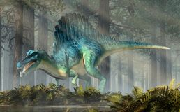 Spinosaurus in een Bos royalty-vrije stock foto