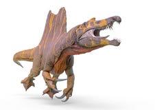 Free Spinosaurus Jumping In White Background Stock Photo - 165251330