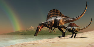 Spinosaurus Rainbow Stock Photos