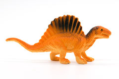 Spinosaurus toy model. On white background Royalty Free Stock Photo