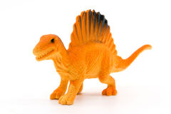Spinosaurus toy model. On white background Stock Images