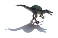 Spinosaurus zabawka z cieniem Zdjęcie Royalty Free