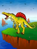 Spinosauruson el fondo del mar Imagenes de archivo