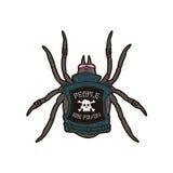Spinpunker De mensen zijn vergift Het ontwerp van de t-shirtdruk Royalty-vrije Stock Foto's