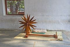 Spinrok in Sabarmati ashram Stock Foto's