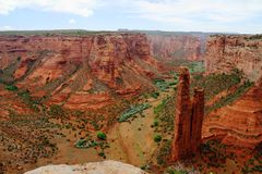 Spinrots en Canions, Canyon DE Chelly National Monument, Arizona stock afbeelding