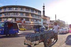 Spinta del carrello kenya Immagine Stock Libera da Diritti