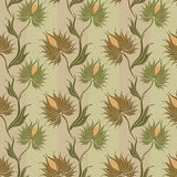 Spiny-flower-pattern Royalty Free Stock Photography