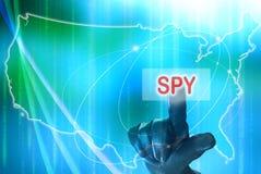 Spion auf Amerikaner Lizenzfreie Stockfotos