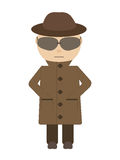 Spion - geïsoleerd karakter Stock Foto's