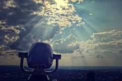 Spion het bekijken Panoramische machines, Stock Foto