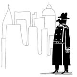 Spion i staden Arkivfoto