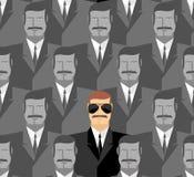 spion Nahtloses Muster von Leuten Eine Menge von Männern Lizenzfreie Stockfotos