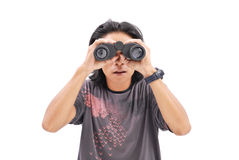 Spionage auf jemand Lizenzfreies Stockfoto