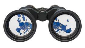 Spionage i begreppet för europeisk union, tolkning 3D royaltyfri illustrationer