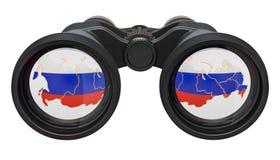 Spionage i det Ryssland begreppet, tolkning 3D vektor illustrationer