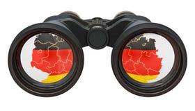 Spionage i Tysklandbegreppet, tolkning 3D royaltyfri illustrationer