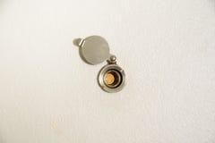 Spioncini di una porta Fotografia Stock