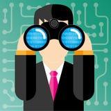 Spionera för dator Arkivfoton