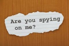 Spionerar du på mig? Royaltyfri Bild