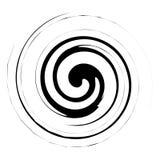 Spiraal, draaiillustratie Abstract element met radiale stijl a royalty-vrije illustratie