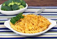 Spiraal Gebakken Macaroni en Kaas Royalty-vrije Stock Afbeelding