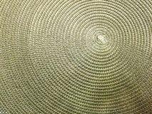 Spiraal Geweven Mat Texture stock afbeeldingen