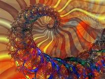 Spiraal met geïntegreerda ontwerp als achtergrond Royalty-vrije Stock Fotografie