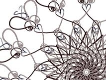 Spiraal met harten Royalty-vrije Stock Afbeelding