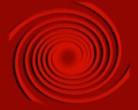 Spiraal met Rolling cirkels Royalty-vrije Stock Foto