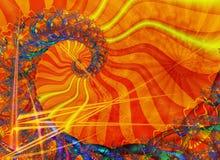 Spiraal met zonnige kleuring Stock Fotografie