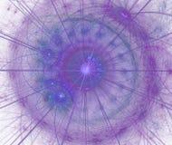 Spiraal in purpere en blauwe kleuren Stock Afbeeldingen