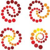 Spiraal in rood en geel Royalty-vrije Stock Afbeeldingen