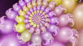 Spiraal van biologische cellen De bellen van het water vector illustratie