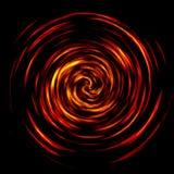 Spiraal van brand Stock Foto
