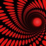 Spiraal van cirkels Royalty-vrije Stock Afbeeldingen