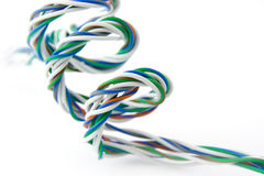 Spiraal van gekleurde draden stock foto's