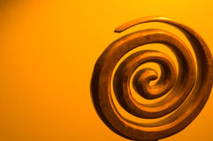 Spiraal van Hout Royalty-vrije Stock Foto's