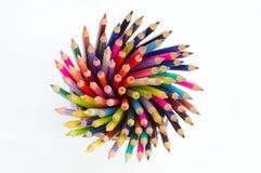 Spiraal van kleuren in zuiver wit Royalty-vrije Stock Foto