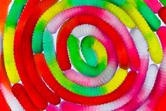 Spiraal van kleverige wormen Royalty-vrije Stock Foto