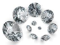 Spiraal van verschillende diamanten Stock Fotografie
