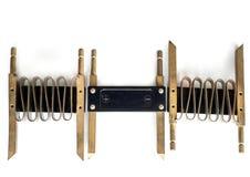 Spiraal voor de voltmeter op een wit blad Stock Fotografie
