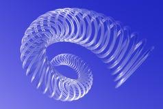 Spiraalsgewijs bewegende draaikolk in blauwe hemel Stock Afbeelding