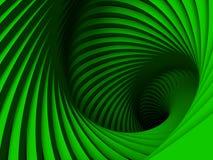 Spiraalsgewijs bewegende groene ellips Royalty-vrije Stock Foto's