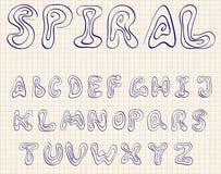 Spiraalvormig alfabet Stock Fotografie