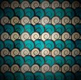 Spiraalvormig blauw patroon Royalty-vrije Stock Foto's
